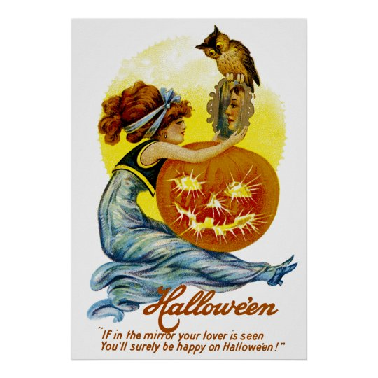 Vintager Halloween-Glamour Poster