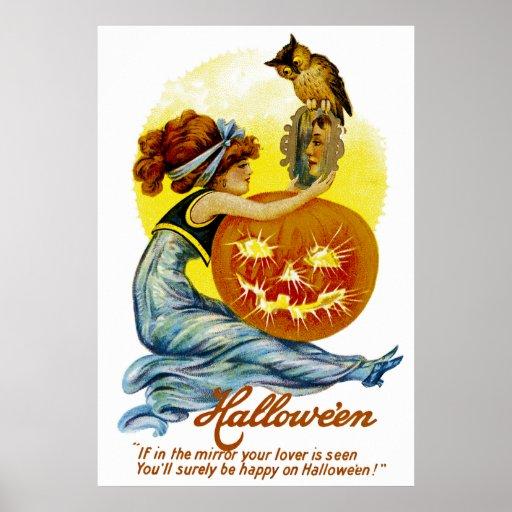 Vintager Halloween-Glamour Posterdrucke