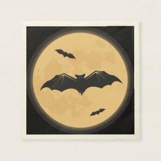 Vintager Halloween-Silhouette-Entwurf Papierservietten