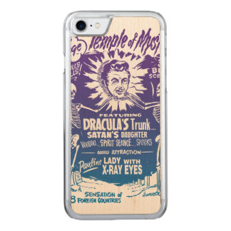Vintager Halloweenspook-Show-Tempel des Carved iPhone 8/7 Hülle