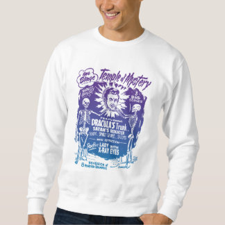 Vintager Halloweenspook-Show-Tempel des Sweatshirt