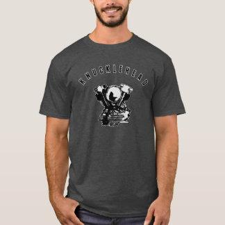 Vintager Harley Knucklehead-Motorrad-Motor T-Shirt