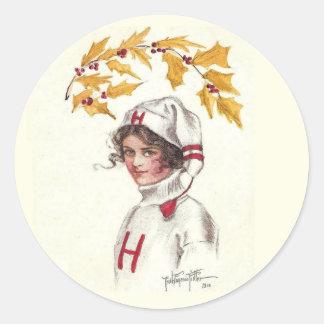 Vintager Harvardkoedukationsfeiertags-Aufkleber Runder Aufkleber