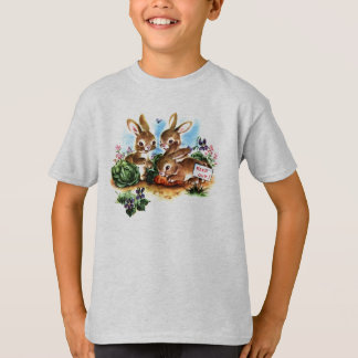Vintager Häschen-T - Shirt