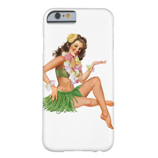 Vintager hawaiischer Button-oben Mädchen iPhone 6 Barely There iPhone 6 Hülle