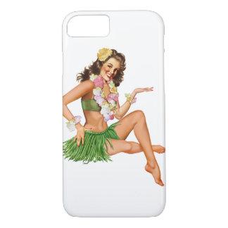 Vintager hawaiischer Button-oben Mädchen iPhone 7 iPhone 8/7 Hülle