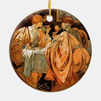 Vintager Heidsieck u. Co Monopole Reims Keramik Ornament
