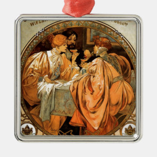 Vintager Heidsieck u. Co Monopole Reims Silbernes Ornament