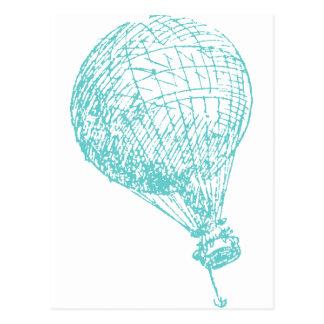 Vintager Heißluft-Ballon Postkarten