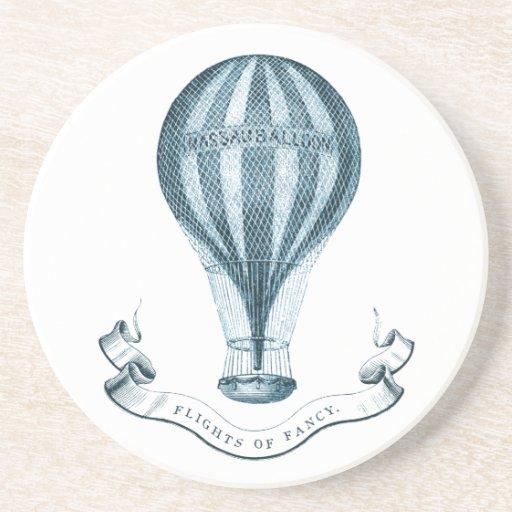 Vintager Heißluft-Ballon-Sandstein-Untersetzer