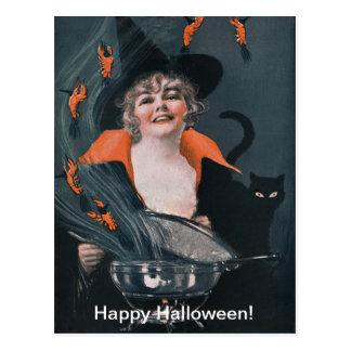 Vintager HexenBrew mit Hummern Postkarte