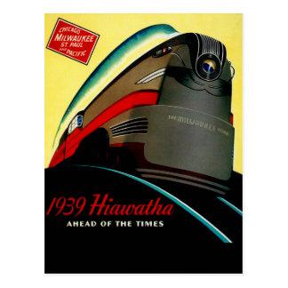 Vintager Hiawatha geglätteter Zug Postkarte