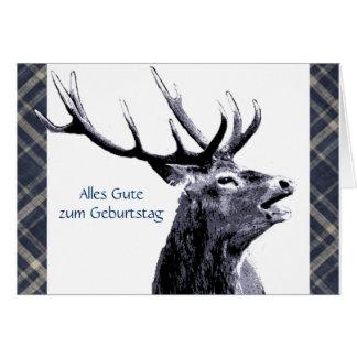 Vintager Hirsch Alles Gute zum Geburtstag Grußkarte