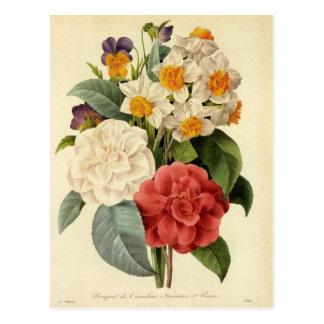 Vintager Hochzeits-Blumenstrauß, blühende Blumen Postkarte