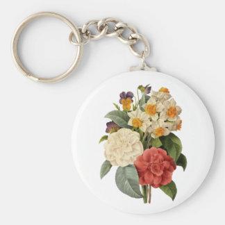 Vintager Hochzeits-Blumenstrauß, blühende Blumen Schlüsselanhänger