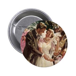 Vintager Hochzeits-Braut-Bräutigam-Jungvermählten- Anstecknadel