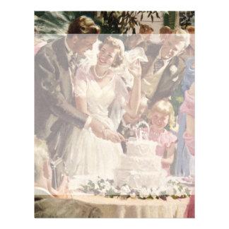 Vintager Hochzeits-Braut-Bräutigam-Jungvermählten- Flyerbedruckung