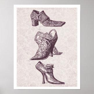 Vintager hoher Heels Poster