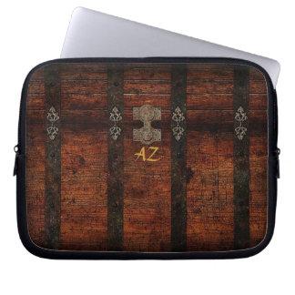 Vintager hölzerner Stamm Laptop Sleeve Schutzhülle