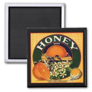 Vintager Honigfirmenanzeigemagnet Quadratischer Magnet