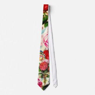 Vintager hübscher Chic-BlumenRosen-Garten-Collage Krawatte