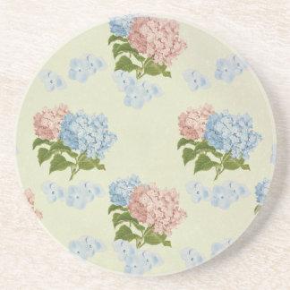 Vintager Hydrangea-Blumenentwurf Untersetzer