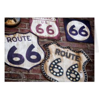 Vintager Iconic Weg 66 Karte