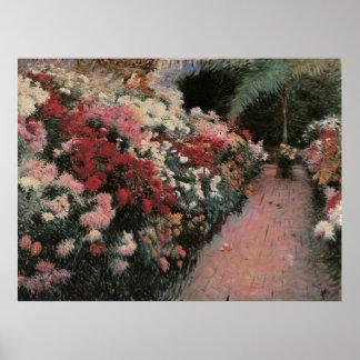 Vintager Impressionismus, Chrysanthemen durch Poster