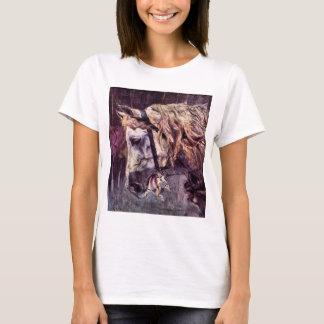 Vintager Impressionismus, Kopf eines Pferds durch T-Shirt