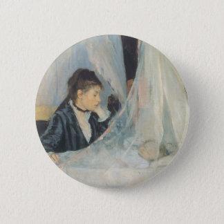 Vintager Impressionismus, Wiege durch Berthe Runder Button 5,1 Cm