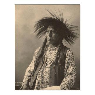 Vintager Inder: Antoine Moise, flachköpfig - Postkarte