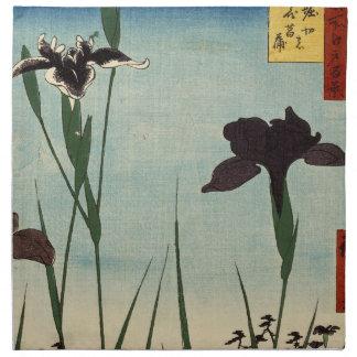 Vintager Iris-Garten Ukiyo-e japanische Malerei Bedruckte Serviette