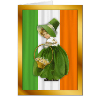 Vintager irischen Mädchen-St Patrick Tag Karte