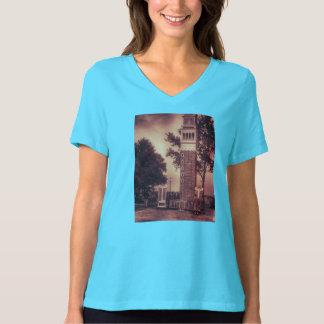 Vintager italienischer Turm-Foto-T - Shirt