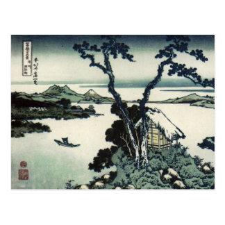 Vintager Japaner-Druck durch Hokusai Postkarte