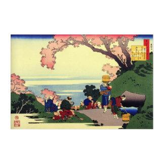 Vintager Japanerdruck durch Katsushika Hokusai Acryl Wandkunst