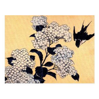 Vintager japanischer Hydrangea Postkarte