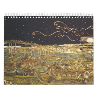 Vintager japanischer Kalender