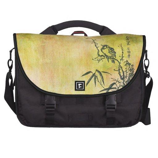 Vintager japanischer Vogel Laptop Taschen