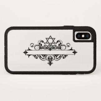 Vintager jüdischer Titel iPhone X Hülle