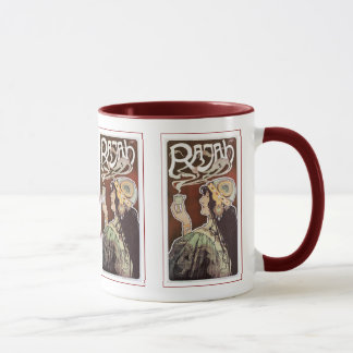 Vintager Kaffee Girly Nouveau Anzeige - Rajah Tasse