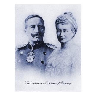 Vintager Kaiser und Kaiserin von Deutschland Postkarte