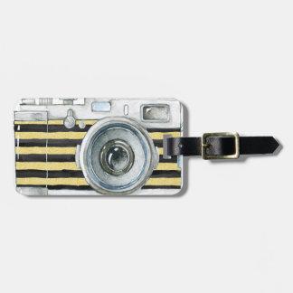 Vintager Kameraentwurf des Fotografen im Dienst Gepäckanhänger