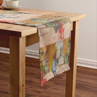 Vintager Karl Larsson die Küche Kurzer Tischläufer