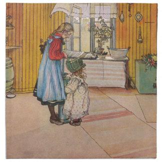 Vintager Karl Larsson die Küche Serviette
