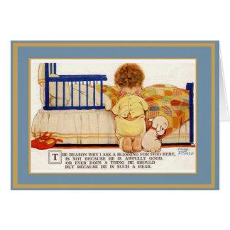 Vintager Karten-Kinderhund Karte