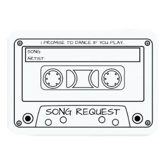 Vintager Kassetten-Band-Hochzeits-Lied-Antrag 8,9 X 12,7 Cm Einladungskarte