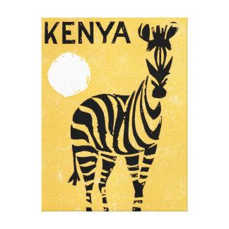 Vintager Kenia Afrika Zebra Leinwanddruck