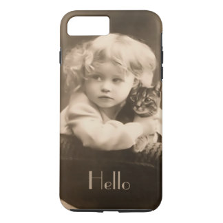 Vintager Kinder-und KittySepia iPhone 7 Plusfall iPhone 8 Plus/7 Plus Hülle