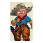 Vintager Kindercowboy Visitenkarten